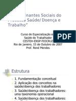 Determinação Social do Processo Doença Saúde e Trabalho