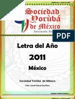 Letra Del Ano 2011 Sociedad Yoruba de Mexico