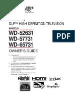 Wd-52631 Mitsubish Tv Manual
