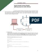 Tracking Pergeseran Sudut Sumber Pada Antena Dipol Menggunakan MATLAB