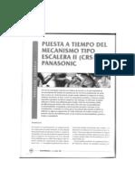 Puesta a Tiempo Mecanismo Escalera II de Panasonic