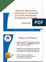 Presentacion Oficial Manual Tarifas 2009