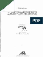 Serrao, E., Un rilievo palmireno inedito al Museo Nazionale di Napoli
