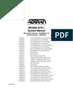 Adtran MX2800 STS 1 System Manual