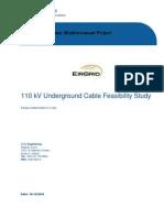 110 kV Underground Cable Feasibility Study