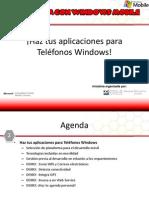 Haz tus aplicaciones para Teléfonos Windows