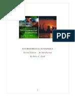 Environmental Economics Summary Ch 1-4