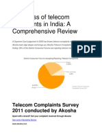 The Mess of Telecom Complaints in India- A Comprehensive Review