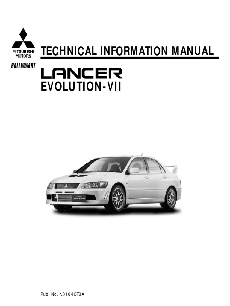 21248071 Mitsubishi Evo Vii Technical Manual | Fuel Injection | Ignition  System