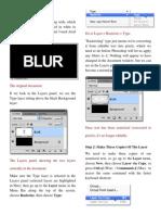 Blur Text Effect in Photoshop