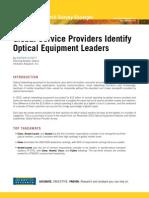 2010 Infonetics Research Survey Excerpts Optical Equipment Vendor Leadership 010411