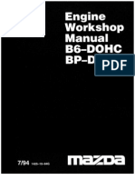 Mazda Engine BP-B6 Workshop Manual