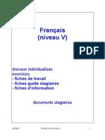 Cours Et Excercices Francais Niveau V