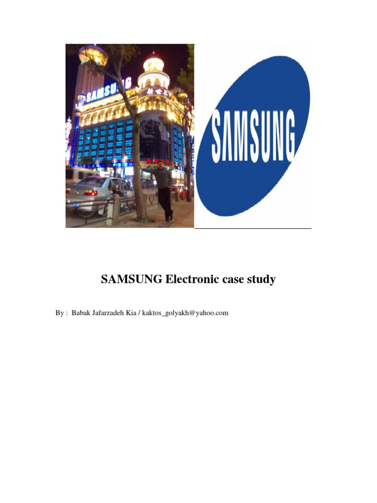 samsung case study harvard The case study demonstrates the usefulness of the framework and the future  direction of further  samsung electronics company (hereafter, samsung  electronics or sec or  operations, harvard business school.