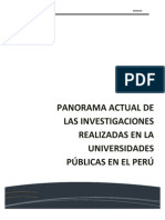 Las Investigaciones en Las Universidades Peruanas No Tienen Implicancia en El Desarrollo de La Sociedad