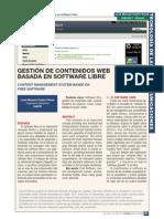 Gestión de contenidos web basada en software libre