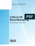 Critical HR Record Keeping