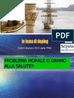 In Tema Di Doping - Dott. a. Sterpini DCO FMSI - Scuola Dello Sport CONI Puglia
