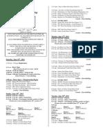 USA RollerSports 2011 SW Regional Schedule