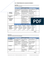 Performance Based Rubrics