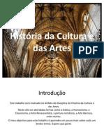 História da Cultura e das Artes