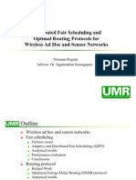 Distributed Fair Scheduling and Optimal Routing Protocols for Wireless Ad Hoc and Sensor Networks