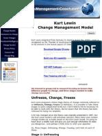 Kurt Lewin Model of Change