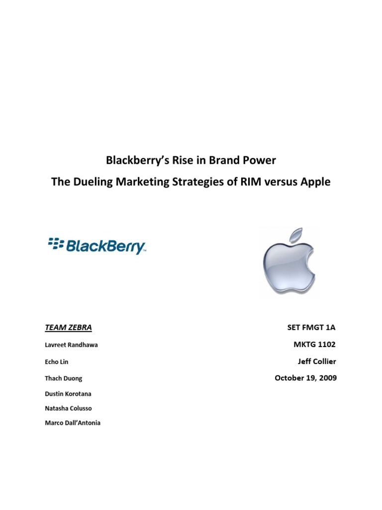 Marketing Strategy of BlackBerry     Coloribus