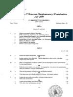 Cusat It5th Sem Question Paper
