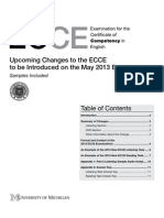 ECCE 2013 Upcoming Changes