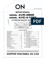 Denon Avr-4800 & Avc-A10se