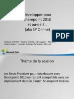 MsDays_2010_Developpement_Sharepoint_2010