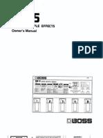 BOSS ME-5 Handbuch