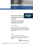 Modele Cahier Des Charges CRM