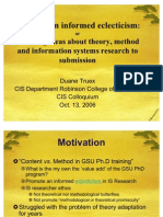 Informed Eclecticism Oct 2006