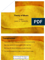 Lessons 15 Transposition