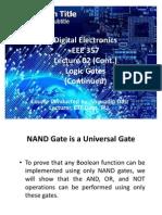 Lecture 02 24.06.11 Logic Gates