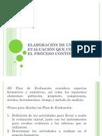 Diseño de plan de evaluación