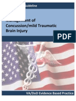 VA DoD Management of Concussion Mild Traumatic Brain Injury