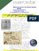 Guide général des enseignements de la Licence Histoire du DPLSH à StClaude 2011-20122