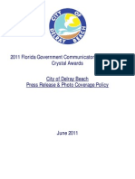 2011 Crystal Awards - Press Release & Photo Coverage Policy - June 2011