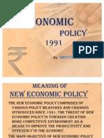 New Economic Policy of India 1991