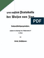Die echten Protokolle der Weisen von Zion by Ulrich Fleischauer