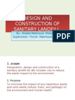 Design and Construction of Sanitary Landfill1