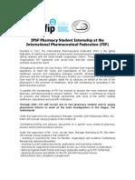 IPSF-FIP Internship 2011