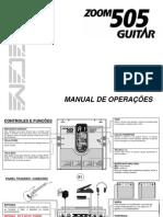 Manual Zoom 505 Guitar - PT-BR