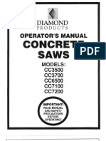 Diamond Products Core Cut Saw operator's manual