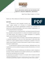 Producción artesanal de quesos- Argentina- Vasek, Cardozo