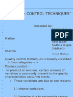 Quality Control Techniques