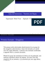 Exercícios Teorema Bayes